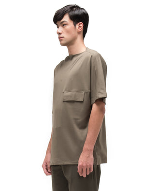 GREEN OLIVE OVERSIZED SHIRT