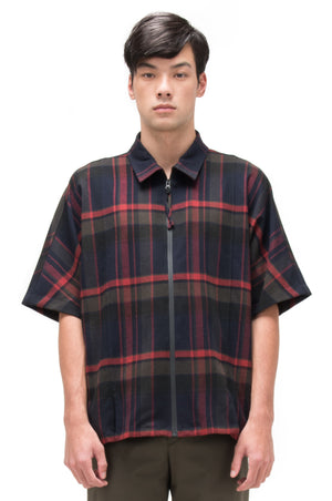 MULTICOLOR FLANNEL OVERSIZED SHIRT WITH ZIPPER