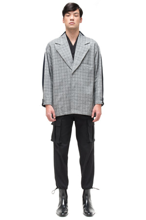 HALF HALF NAVY GREY CHECKERED NAVY OUTER
