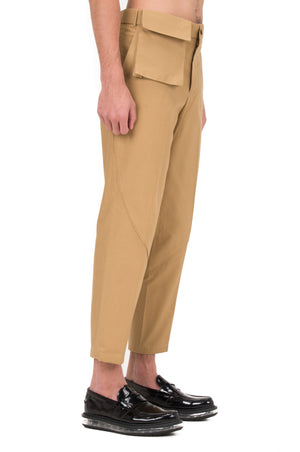 BEIGE PANTS WITH DETACHABLE POCKET