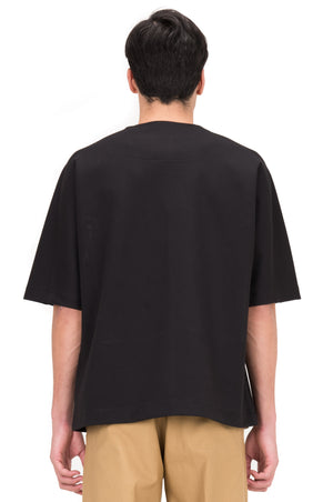 BLACK OVERSIZED SHIRT WITH ZIPPER ON SIDES