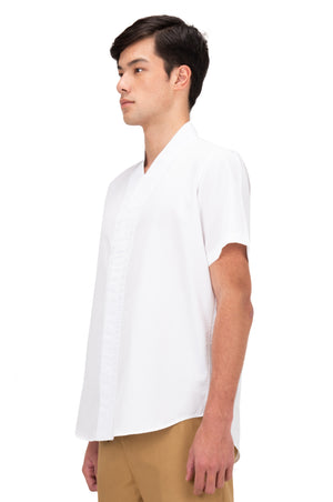 WHITE COLLARLESS SHORT SLEEVES SHIRT PT. 5