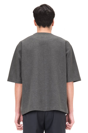 GREY OVERSIZED SHIRT WITH ZIPPER ON SIDES