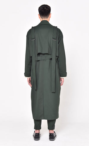 GREEN COAT WITH DETACHABLE OUTER (PRE-ORDER)