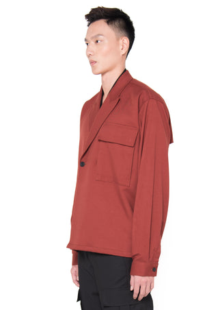 OVERSIZED RED BRICK DOUBLE BREASTED OUTER