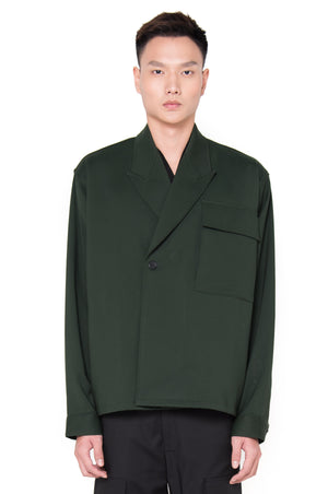 OVERSIZED GREEN DOUBLE BREASTED OUTER (PRE-ORDER)