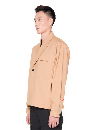 OVERSIZED CREAM DOUBLE BREASTED OUTER (PRE-ORDER)