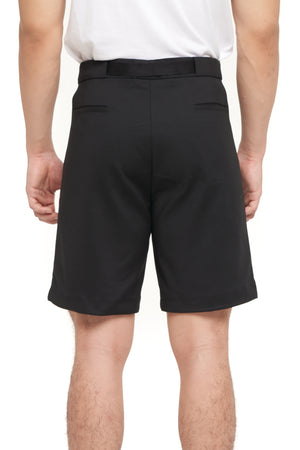 BLACK SHORT PANTS WITH BELT