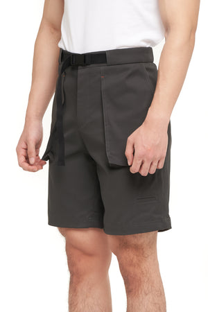 DARK GREY SHORT PANTS WITH BELT