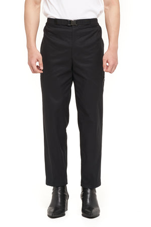 BLACK EASY PANTS WITH BELT