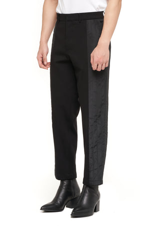 Black Half Quilted Pants