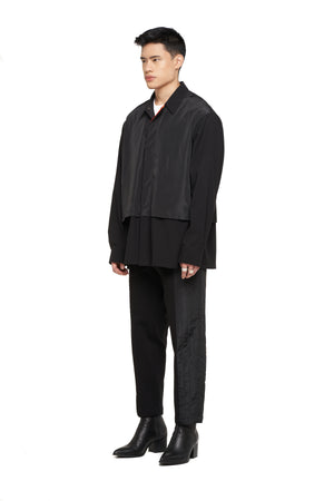 Black on Black Layered Overshirt