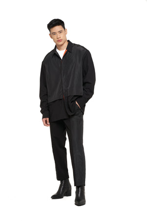 Black on Black Layered Overshirt (PRE ORDER)