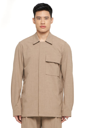Beige Over shirt With Back detail