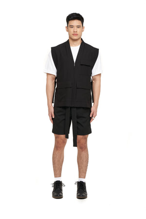 Black Vest With Side Buckle (PRE ORDER)