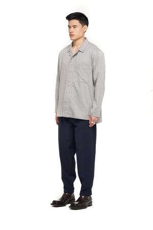 Navy Baggy Pants with Belt
