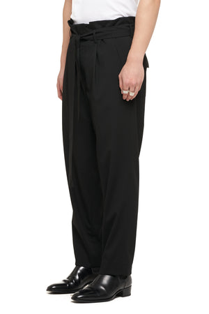Black Pleated Pants With Belt