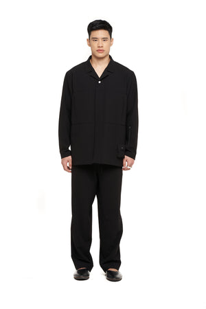 Black Over Shirt With Pockets