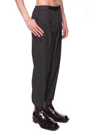 DARK GREY EASY PANTS WITH LEG OPENING STOPPER