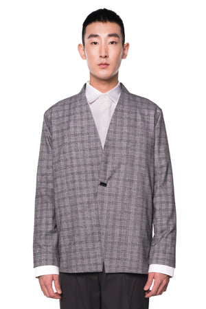 GREY CHECKERED OUTER