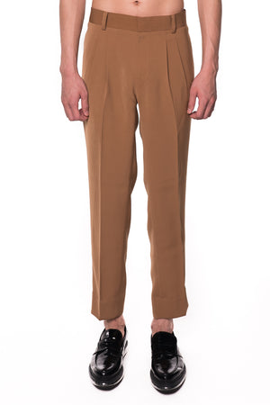 CAMEL BASIC PANTS WITH WAISTBAND ADJUSTER