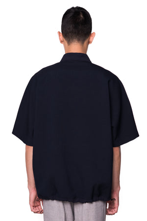 NAVY OVERSIZED WITH ZIPPER OPENING
