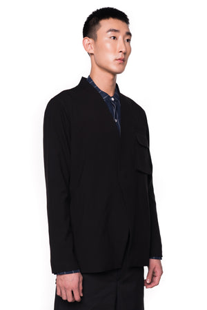 Black Layered Outer with Detachable Vest (PREORDER)