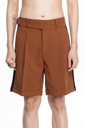 BROWN SHORT PANTS WITH BELT