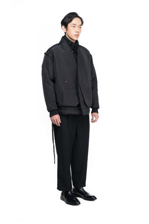 OVERSIZED BOMBER JACKET WITH DETACHABLE SLEEVES (PRE ORDER)
