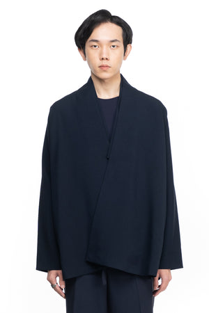 BLUE NAVY WRAPPED OUTER