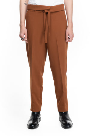 BROWN EASY PANTS