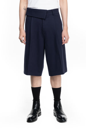 HALF LAYERED WAISTBAND WIDE PANTS