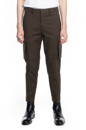 OLIVE CARGO PANTS WITH EXTRA POCKETS
