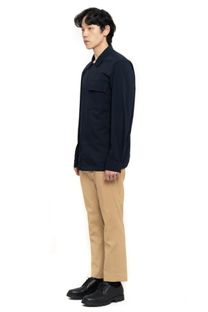 Navy Houndstooth Over shirt With Back detail