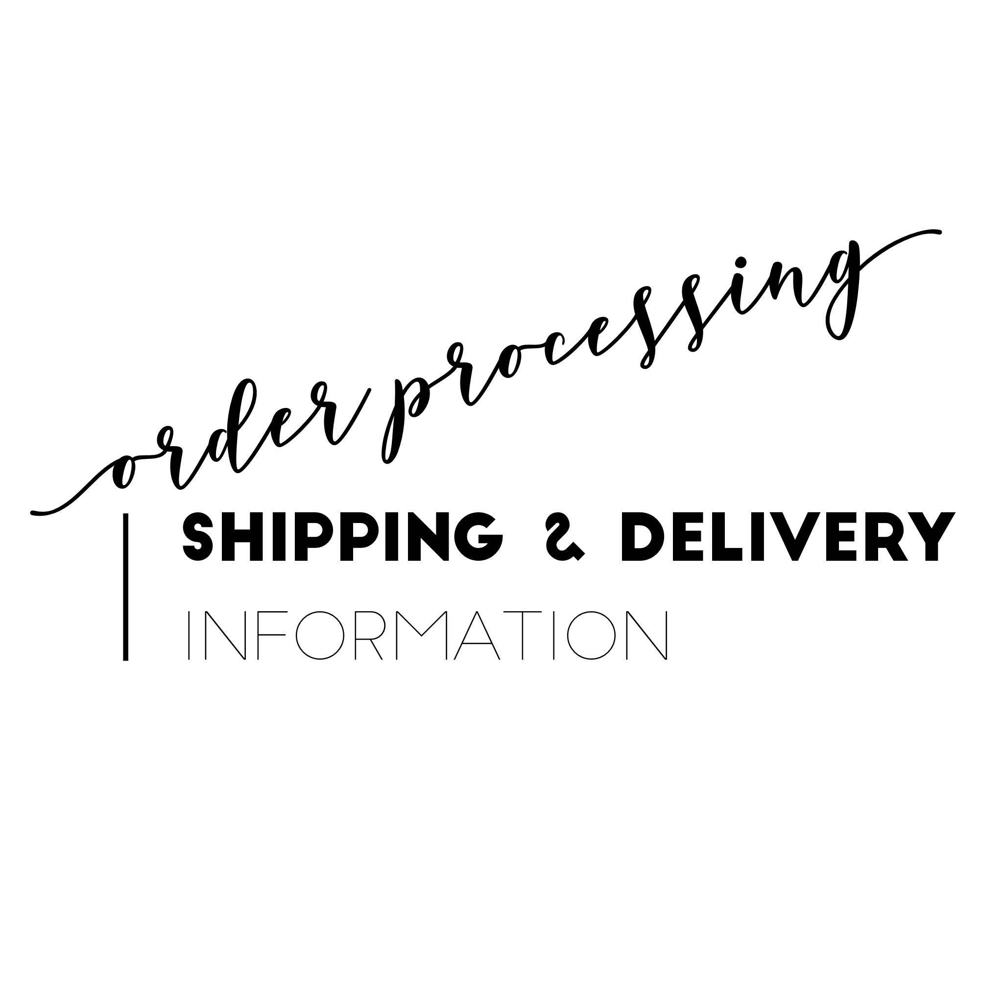order processing shipping delivery information shop queen persona