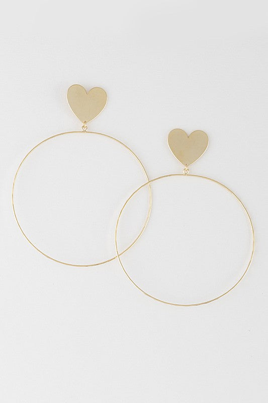 CQ Heart Earrings