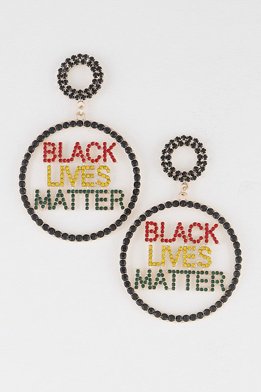 BLM Hoop Earrings