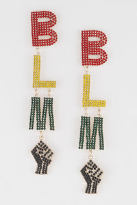 BLM Drop Earrings