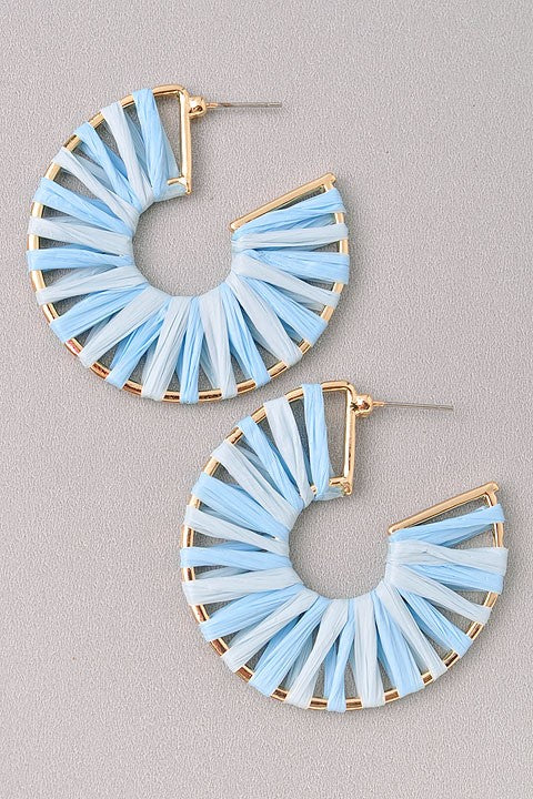 BombshellQ Traci Earrings-Blue