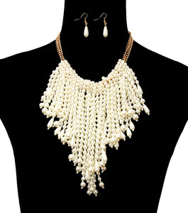 Pearl Statement Necklace Set