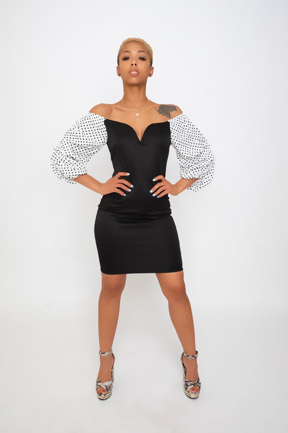 GlamHer Off Shoulder Midi
