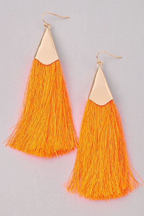 GlamQ Donna Earrings-Orange
