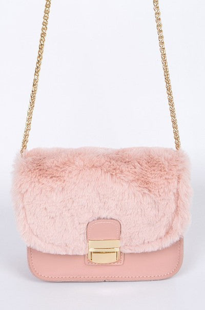 The Pink FauxFur Clutch