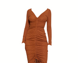 BSG Ruched Midi Dress