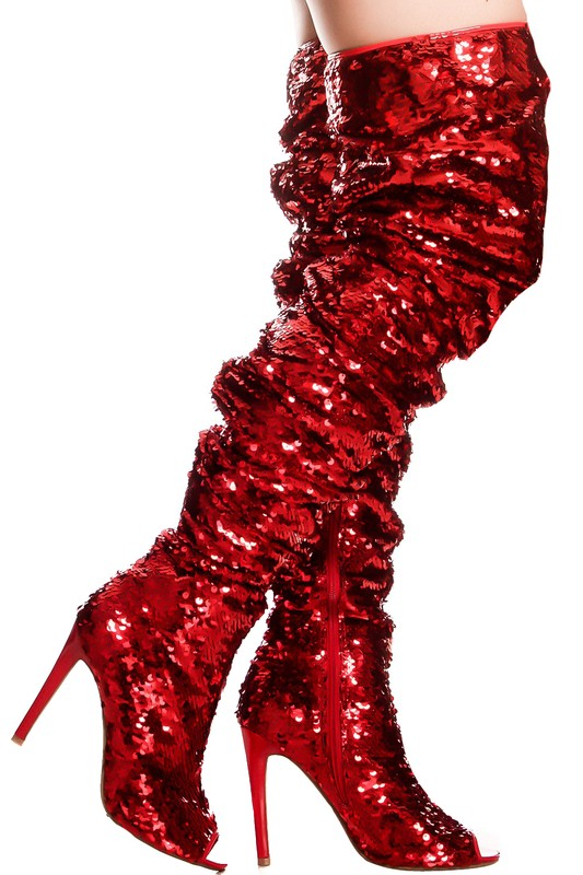 The Glam Boots-Red