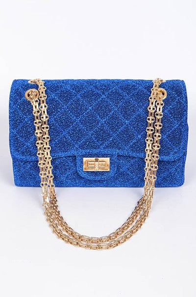 Sparkle Glam Clutch BLU