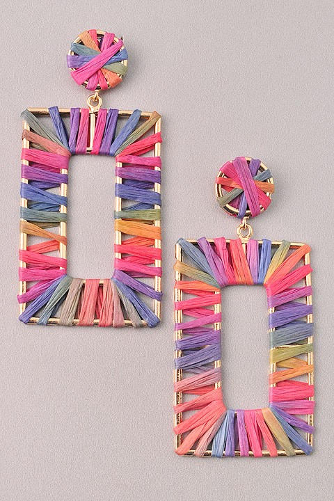 GlamQ Grace Earrings-Multi