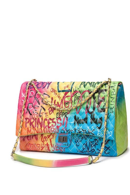 BombshellQ Graffiti Bag