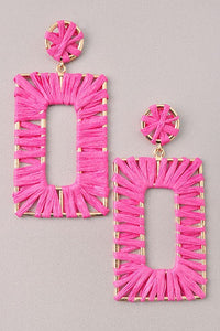 GlamQ Arianne Earrings-Pink