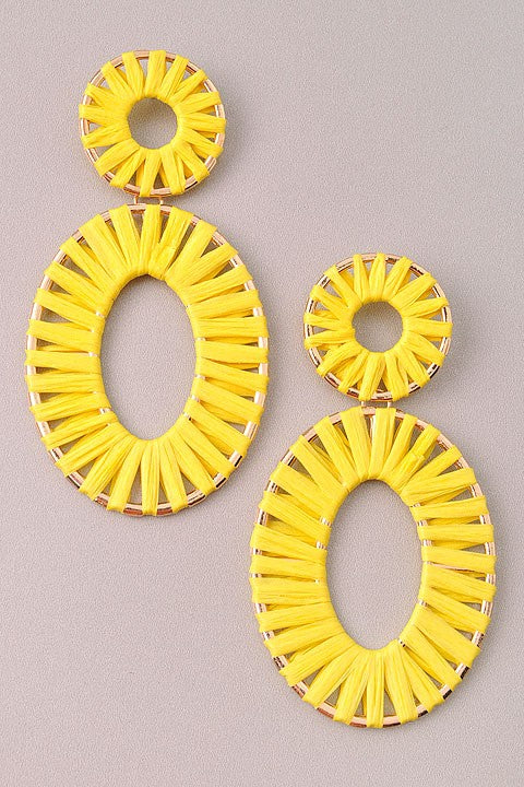 GlamQ Sophia Earrings-Yellow